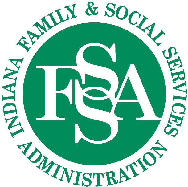 indiana family and social services administration logo